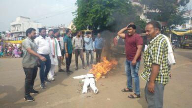 Photo of युवा कांग्रेस ने प्रभारी मंत्री का फूंका पुतला