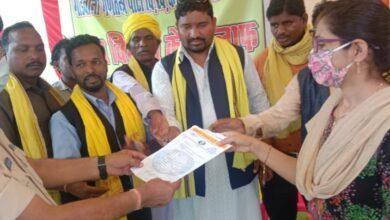 Photo of करंजिया/ गोंडवाना गड़तंत्र पार्टी का धरना आश्वासन के बाद हुआ स्थगित