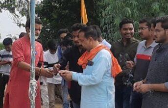 Photo of भाजपा युवा मोर्चा करंजिया द्वारा किया गया ध्वजारोहण